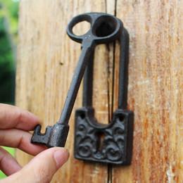 2 Pieces Key Design Cast Iron Door Knocker With Handle Doorknocker Door  Latch Metal Door Gate Decor Antique Retro Crafts Free Shipping