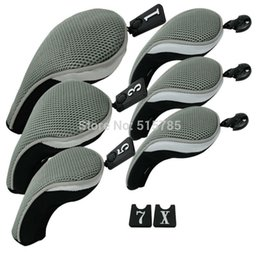 Wholesale Hybrid Club Head Covers - Andux Golf Club Head Cover Set Interchangeable No. Tag (3 Hybrid Cover+3 Wood Cover) MT ZH02 Grey