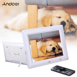 Wholesale Hd Movie Pictures - Wholesale-8'' HD TFT-LCD Picture Frame 600*800 Digital Photo Frame with Clock MP3 MP4 Movie Player with Remote Desktop