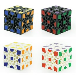 Wholesale 3d stickers puzzles - 3D Cube Puzzle Magic Cube 3 x 3 x 3 Gears Rotate Puzzle Sticker Adults Kids Educational Toy Cube Kids Toys LA638-2