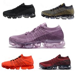 Wholesale Red Walking - Vapormax Running Shoes Mens Womens Classic Outdoor Shoes Air Black White Sport shoes Shock Jogging Walking Hiking Sports Athletic Sneakers