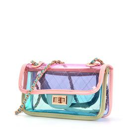 2019 маленькие прозрачные сумки Женщины прозрачный мешок ясно ПВХ Messenger пляж сумка желе небольшой тотализатор Лазерная голографическая сумочка женский Bandoulier дешево маленькие прозрачные сумки