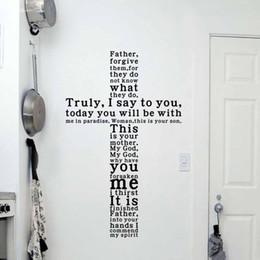 christliche wand Rabatt GOTT Vinyl-Zitat Wand Aufkleber Aufkleber Christian Religiöse Kreuz Wand Kunst Home Decor
