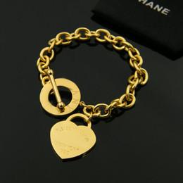 Wholesale Titanium Bracelet Singapore - Titanium steel rose gold bracelets wholesalegold love bracelet&bangle for woman jewelry exquisite silver heart bracelet women wiht logo bag