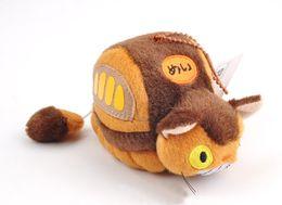 2019 brinquedos do ônibus do gato Boneca Stuffed Pingente partido EMS Meu Vizinho Totoro Cat Bus 12CM Soft Toy Plush presente brinquedos do ônibus do gato barato