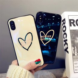 dab24e9f62 Fashion Couple Love Heart Blu-Ray Soft TPU Cover Phone Case For iPhone X 8  7 6 Plus Support Custom Pattern
