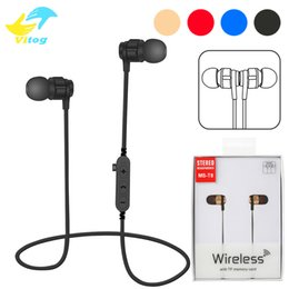 Wholesale Sport Wireless Bluetooth Mic - For Iphone 8 X VT8 Bluetooth Headset Headphone Wireless Magnetic Earphone Sport Stereo Earphone Support TF Card With Mic Package
