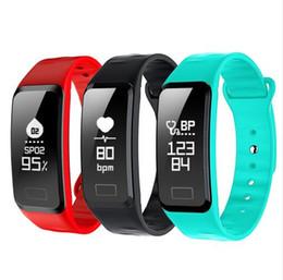 R1 Smart Band Monitor della frequenza cardiaca Contapassi della pressione sanguigna Impermeabile Sport tracker Orologio da polso Bracciale Orologio per iOS Android da