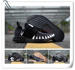 Wholesale Packers Green - Triple Black NMD R1 Runner PK Shoes Men Women Packer NMD R2 W Boost Trainers Sneakers Casual Shoes Hot Sale Size 36-45