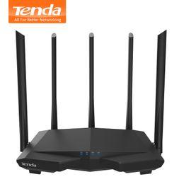 Усиление антенны wi-fi онлайн-Tenda AC7 1200Mbps Wireless WiFi Router with 5*6dBi High Gain Antenna Home Coverage Dual Band Wifi ,28nm Chip/APP Manage