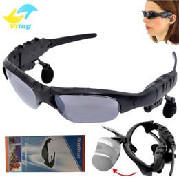 Беспроводные солнцезащитные очки онлайн-Солнцезащитные очки гарнитура Беспроводные Bluetooth наушники солнцезащитные очки стерео громкой связи наушники mp3 музыкальный плеер с розничной упаковке для смартфонов