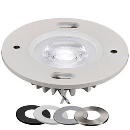 12v dimmable iluminación led puck online-Fábrica en línea al por mayor DC12V 3W / 5W dimmable LED interior blanco gabinete puck luz con cubierta magnética intercambiable