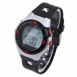смотреть спортивный пульс Скидка 2018 Новый Импульсный Цифровые Часы Монитор Наручные Часы Калорий Водонепроницаемый Импульсный Счетчик Сердечного ритма Спортивные Часы Мужчины Женщины Relogio