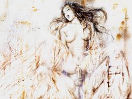 Óleo para sexo on-line-Luis Royo Fantasy Art Sex, pintura a óleo reprodução de alta qualidade giclée na lona Modern Home Decor Art 3919