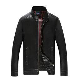 Wholesale Men S Real Leather Jacket - Plus size 10XL 8XL 6XL 5XL pigskin motorcycle real leather jacket Genuine Leather jackets padding cotton winter warm coat men