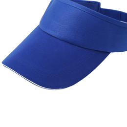 864beb1cadf blank white hats Canada - High quality Polyester cotton Solid color  advertising empty top hat blank