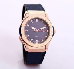 fae7c0ec480 Relogio masculino moda masculina designer relógios homens grandes top marca  de luxo calendário automático preto relógio de couro de discagem relógio de  aço ...