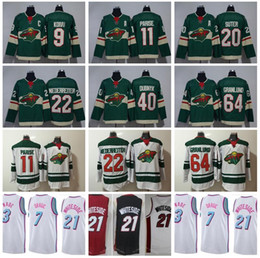 Wholesale Ryan White - Hockey Minnesota Wild Jersey 11 Zach Parise 20 Ryan Suter Mikael Granlund Miami Vice City Edition 21 Hassan Whiteside Wade Dragic White Pink