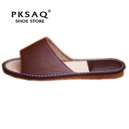 Pantoufles d'été d'été en cuir véritable pour couple, semelle intérieure en lin naturel confortable, chaussures de sport, chaussures décontractées, hommes et femmes ? partir de fabricateur
