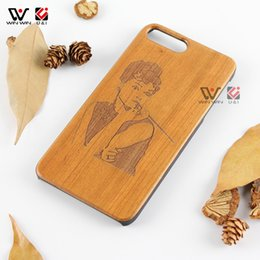 Wholesale I Smoking - Smoking sexy girl design wood phone case for iPhone 6plus 6 6s plus,cell phone cases cover for i Phone i6 i6s plus