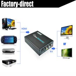2019 convertisseur vidéo hdmi composite s Convertisseur HDMI vers composite AV RCA + S-vidéo 2 en 1 pour lecteur de DVD PS4 Xbox vers téléviseur plus ancien avec bloc d'alimentation promotion convertisseur vidéo hdmi composite s