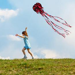 80 cm x 400 cm Çerçevesiz Ahtapot Uçurtma Paraşüt Dublör Uçurtma Tek Hat Yumuşak Parafoil Uçurtma Açık Plaj Eğlence Spor Uçurtmalar için Uçan nereden paraşüt sporu uçurtma tedarikçiler