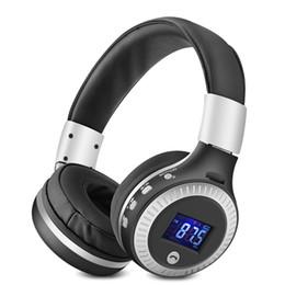 lcd auriculares inalámbricos Rebajas Bluetooth B19 HiFi Bass Stereo Headphones Auriculares inalámbricos con pantalla LCD con micrófono Radio Auriculares para auriculares Xiaomi