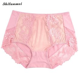 0c619816ffa23 China Briefs women Shaper sexy Thong Modal Abdomen Drawing underpants  panties with Lace underwear calcinha Pink