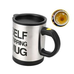 Wholesale blue mixers - Self Stirring Coffee Cup Mugs Electric Milk powder Mixer Automatic Self-Stirring Mug Mixing Drinking Cups With Lid