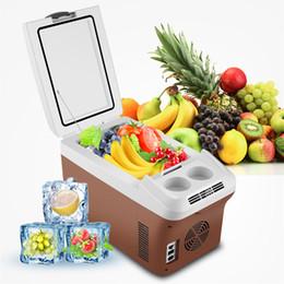 Nevera portátil online-15 L Acampar al aire libre Portátil Mini Coche Refrigerador Beber Comida Enfriador Caja Fruta Conservación Refrigeración Calefacción Universal NNA82