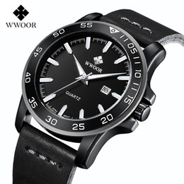 спортивные наручные часы белые Скидка Top  Business Quartz Leather Belt Watch  Waterproof Sports Watch Men Trend Simple Wrist-watch 8834-White