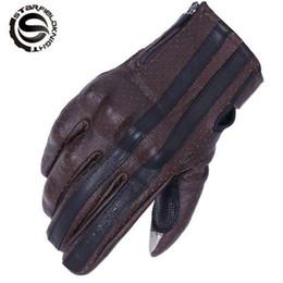 SFK коричневый ретро мотоцикл перчатки мужчины сенсорный экран козья кожа мотоцикл мотокросс перчатки Motocicleta Guantes Moto Luvas от Поставщики коричневый мотоцикл перчатки мужчины