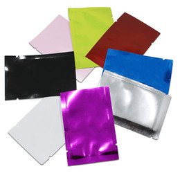 Wholesale vacuum bags free shipping - Flat Open Top Aluminum Foil Packing Bag Heat Sealable Vacuum Food Pouch Coffee Powder Package Mylar Bag 200pcs lot Free Shipping