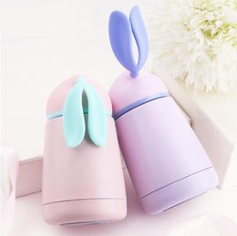 Wholesale Thermal Cup Kids - Rabbit Thermo Cup Stainless Steel kid Thermos bottle For water Thermo Mug Cute Thermal vacuum flask child water bottles