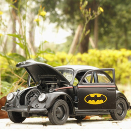 Vw modelli di auto online-Regalo da collezione modello in lega di auto in lega 1/3 di VW Batman Beetles
