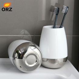 Зубная щетка онлайн-1 комплект = 2 x Зубная кружка Принадлежности для ванной комнаты Зубная кружка Принадлежности для ванной комнаты Набор держателей для зубных щеток Чашка с нормальной температурой