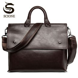 f5b02ec09cd8 Hot Fashion Men Bags PU Laptop Briefcases Handbags Tote Men Office Shoulder  Bag Strap Crossbody Bags Travel Messenger