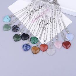 ko Rabatt 7 Arten Naturstein Halskette Herz Kreuz Kristall Druzy Star Hexagonal Prism Charms Pink Opal Kragen Edelstahl Kette Schmuck