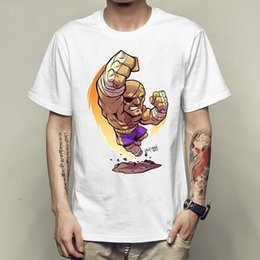 Wholesale Gown Games - Sagat tiger t shirt Street fighter short sleeve gown Hot game tees Unisex clothing Quality modal Tshirt