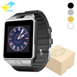 Tarjeta sim xiaomi online-DZ09 bluetooth reloj inteligente para Samsung xiaomi soporte para teléfono Android tarjeta SIM TF reloje inteligente smartwatch