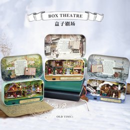 Wholesale Manual Toys - DIY Cute Room Manual Assembling Mini Villa Model Woodiness Originality Box Theater Toy For Decoration Gift Multi Style 23 5rh Z