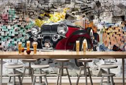 coches pintados personalizados Rebajas Custom 3D Photo Wallpaper Coches clásicos europeos Sala de estar Pintura de pared Sala de estar Mural de pared Papel tapiz