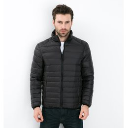 Wholesale Mens Waterproof Parka Jackets - 2017 Autumn Winter Duck Down Jacket Ultra light Men 90% Coat Waterproof Down Parkas Fashion mens collar Outerwear coat 4XL 5XL