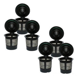 Wholesale Plastic Steel Design - Black Reusable Coffee Filter Cup Stainless Mesh Funnel 3Piece Set Coffee Colanders Strainers Cup one-piece design with stainless steel BBA1