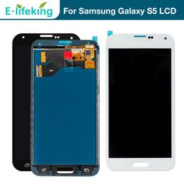écran de remplacement pour samsung galaxy s5 Promotion En gros Écran LCD Pour Samsung Galaxy S5 i9600 SM-G900 G900F Écran Tactile Digitizer Assemblée Pour Samsung S5 LCD Remplacement Qualité Supérieure