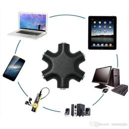 satelliten-tv kostenlos Rabatt Handy Music Sharer Kopfhörer Konverter 3,5 mm Audio Ausgang Adapter Erweiterung Gadget PC Notebook Zubehör