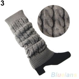 Wholesale Hot Long Boots - Hot Women's Crochet Knitted Braided Winter Leg Warmers Long Stocking Boot Cuffs Stocking 22LF