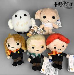 Wholesale Dolls Harry Potter - Harry Potter Plush Toy Dolls Q Version Malfoy Hermione Dobby Owl Hedwig Plush Pendant Kids Birthday Gift 4.7