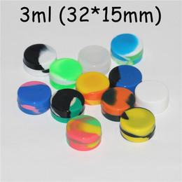 Boîtes de rangement en caoutchouc en Ligne-Récipient de cire de silicone plat Boîte de silicium en caoutchouc de qualité alimentaire pour boîtier antiadhésif rond 3ml 5ml pour boîte de support d'huile pour outils de stockage