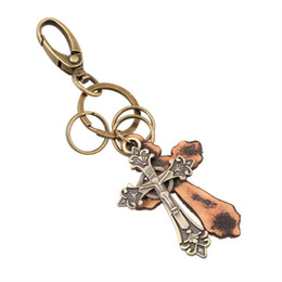 Wholesale House Facing - Factory Wholesale Crucifix Keychains Cross Housing Smalls Fair Smallware Waist Hangs Creative Commodities Free Shipping Via epacked sz